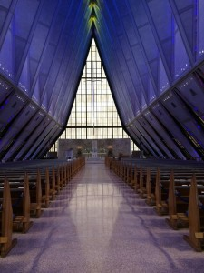 A favorite former student got married on Saturday at the Air Force Academy chapel in Colorado Springs. I was nearby for meetings, so she asked me to deliver the prayer of blessing.